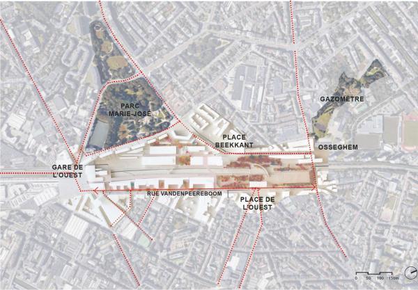 Gare de l'Ouest - inscription