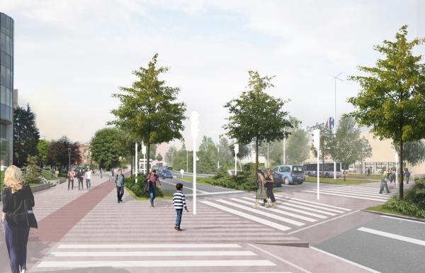 Reamenagement du boulevard devant le site Demey