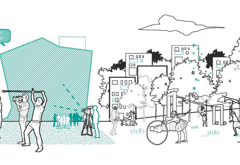 dessin conceptuel Mediapark