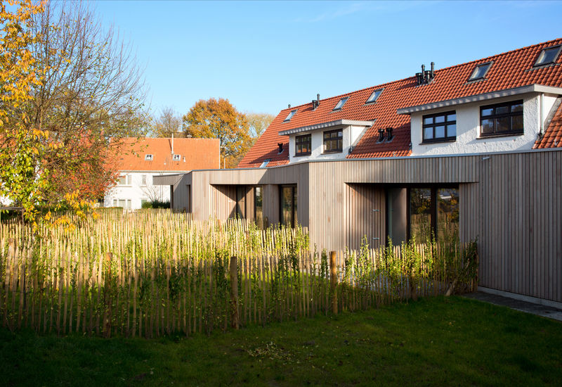 Logement en construction à Homborch (Uccle)