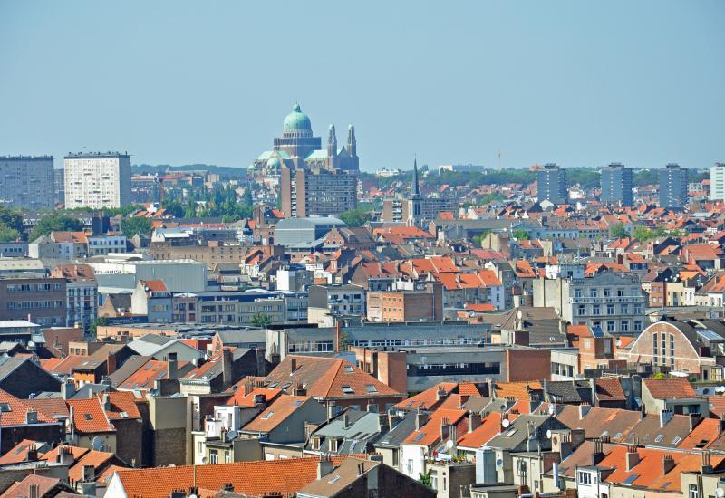 Uitzicht over Brussel (Basiliek van Koekelberg)